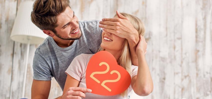 Numerología del amor: número 22