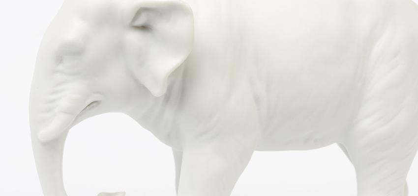 Elefantes como amuletos de la buena suerte