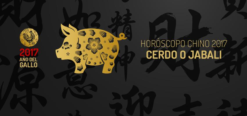 Horóscopo Chino 2017: Cerdo o Jabali
