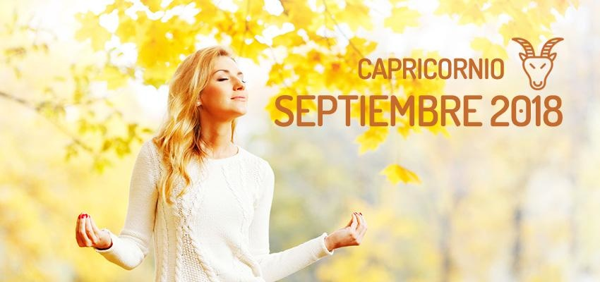 Horóscopo de Capricornio para Septiembre 2018