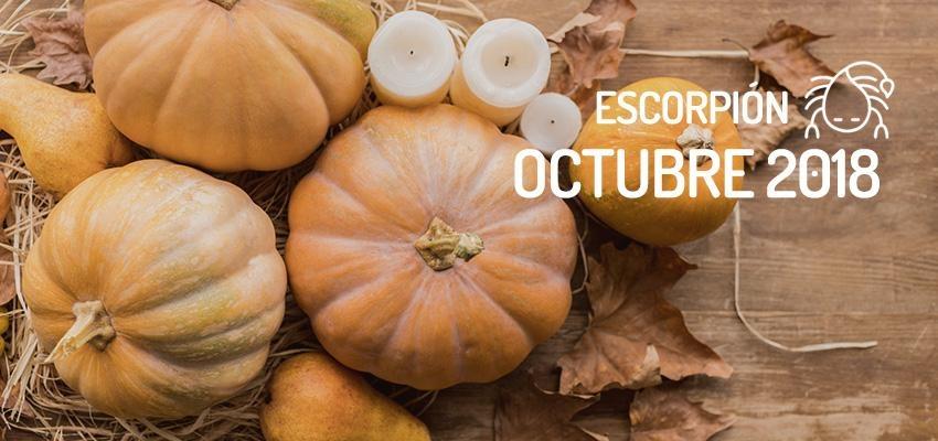 Horóscopo de Escorpión para Octubre 2018