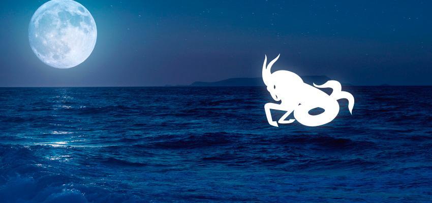 Luna en Capricornio, carta natal y aspectos astrológicos
