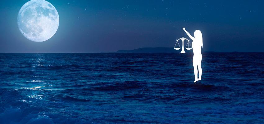 Luna en libra, carta natal y aspectos astrológicos