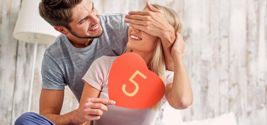 Numerología del amor: número 5