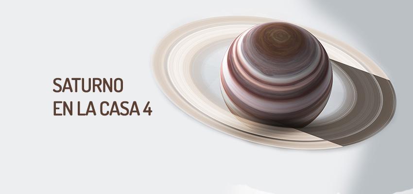 Saturno en la casa 4, poco favorable para la vida familiar