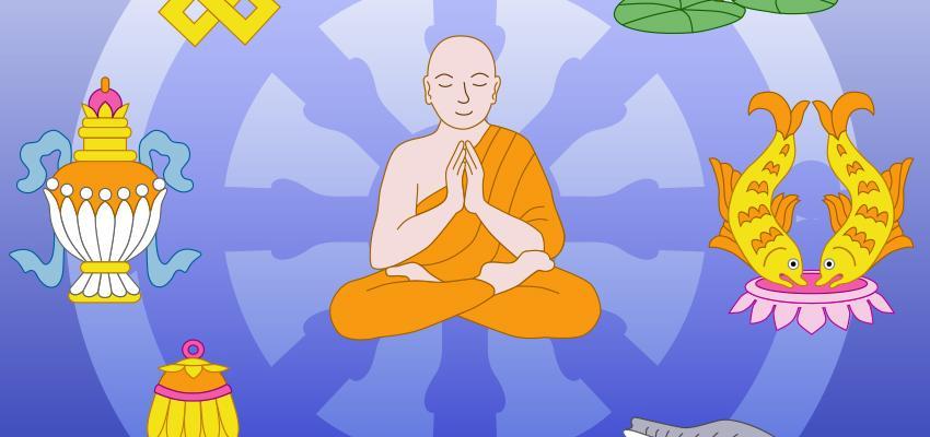 El significado de los 8 tesoros de Buda