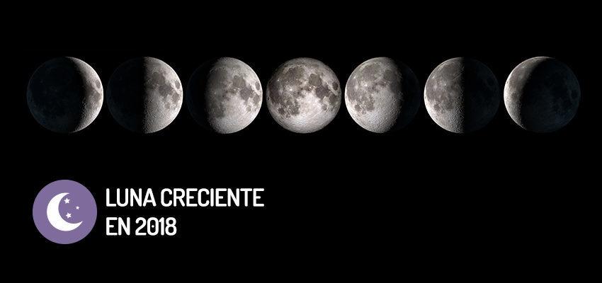 Fases de la luna creciente en 2018 wemystic for Q fase de luna es hoy