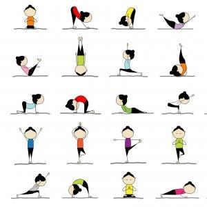 Los nombres de las posturas del yoga por grupos