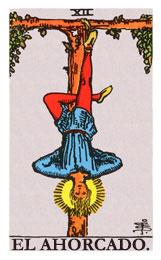 Las cartas del tarot: El ahorcado