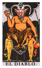 Arcanos Mayores en el amor: El Diablo