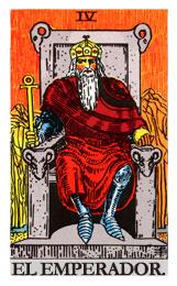 tarot de la armonía: El emperador