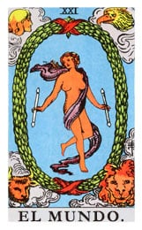 Las cartas del tarot: El mundo