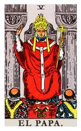 Arcanos Mayores en el amor: El Papa