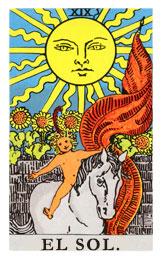 Arcanos Mayores en el amor: El Sol