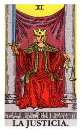 tarot de la armonía: La justicia