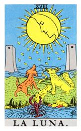Las cartas del tarot: La luna