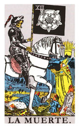 Arcanos Mayores en el amor: La Muerte