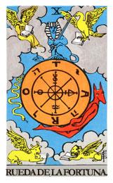 Arcanos Mayores en el amor: La rueda de la fortuna