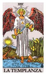 Las cartas del tarot: La templanza