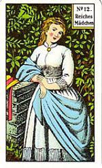 Cartas del tarot gitano: La chica rica