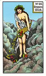 Cartas del tarot gitano: Gran fortuna