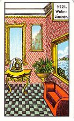 Cartas del tarot gitano: Sala de estar